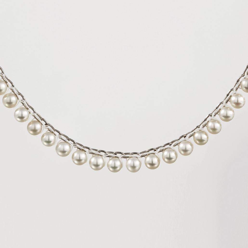 Detailbild von 'Surround' Perlencollier in Silber